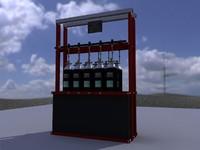 3dsmax cabine gas bottles