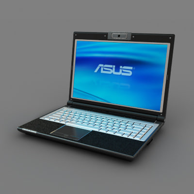 3d model asus notebook black