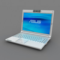 white asus notebook 3d max