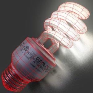 lightbulb lights cfl bulbs 3d model
