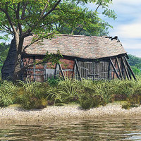 barn building 3d obj