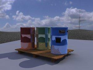 drum base 3d 3ds