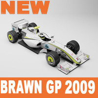 brawn gp 3d model