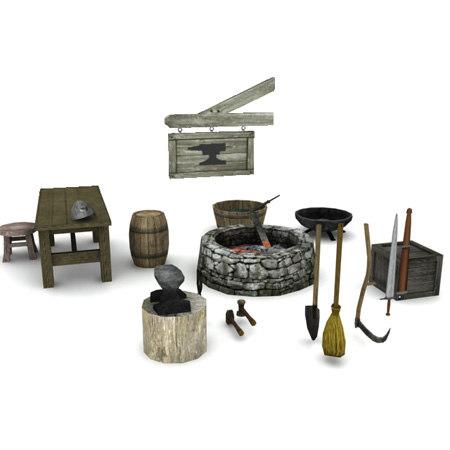 medieval blacksmith pack 3ds