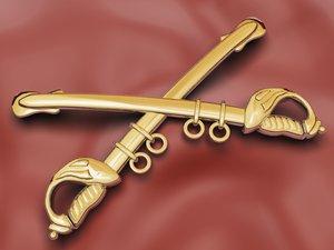 cavalry insignia 3d model
