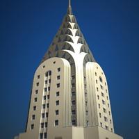 chrysler building 3d obj