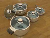 3d cooking pots