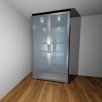 3d double door cooler freezer