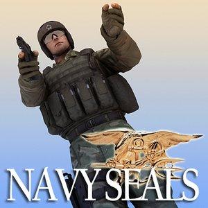 3d max combat seals mk18 p226