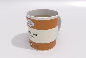 penguin mug tea - 3d model