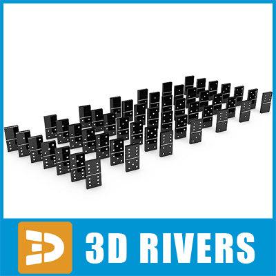 3d model domino set table