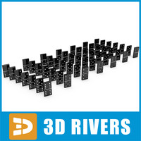 3d model domino set table