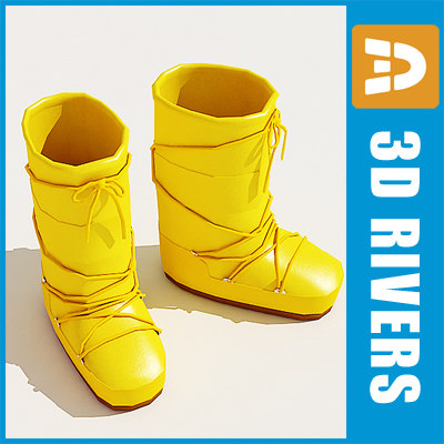 3d 3ds moon boots shoes