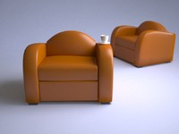 fatboy leather chair 3d model