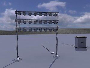 set lighting warehouse 3ds