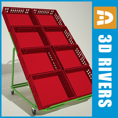 folding fruit display 3d 3ds