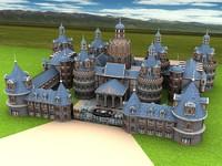 hotel castle 3d model