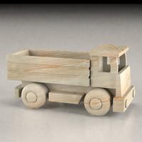 wooden car 3d model