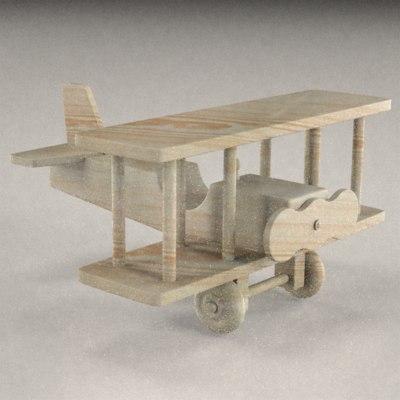 wooden plane 3ds