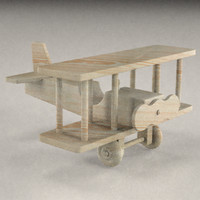 wooden plane 3ds