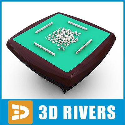 mahjong table 3d max