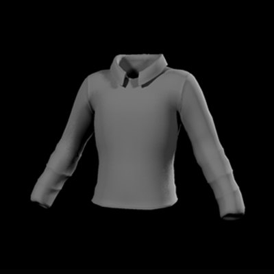 3d standard collared shirt
