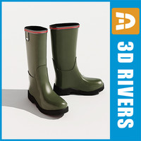 3d rubber boots shoes wellington model