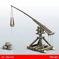 medieval mangle 3d model