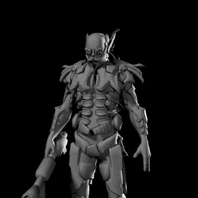 mechanical warrior 3d obj
