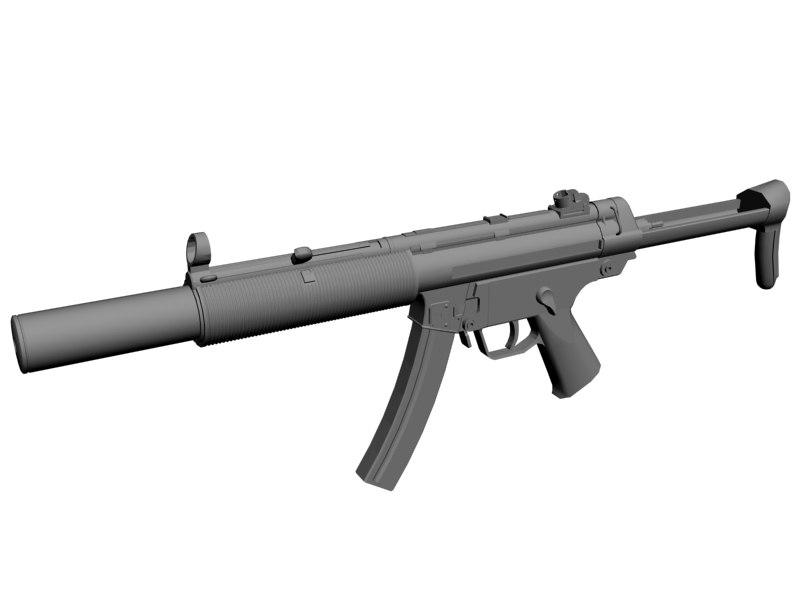 smg gun 3d model