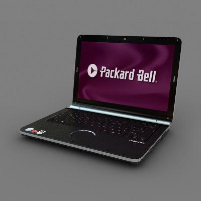 packard bell notebook 3d model
