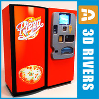 pizza vending machine 3d model