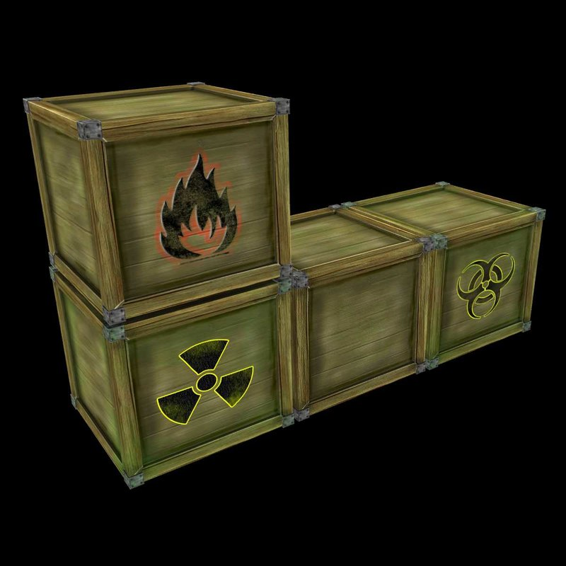 max crates biohazard flammable