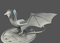 fantasy character dragon 3d model