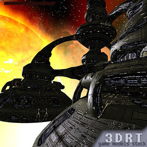 sci-fi norad space stations 3ds