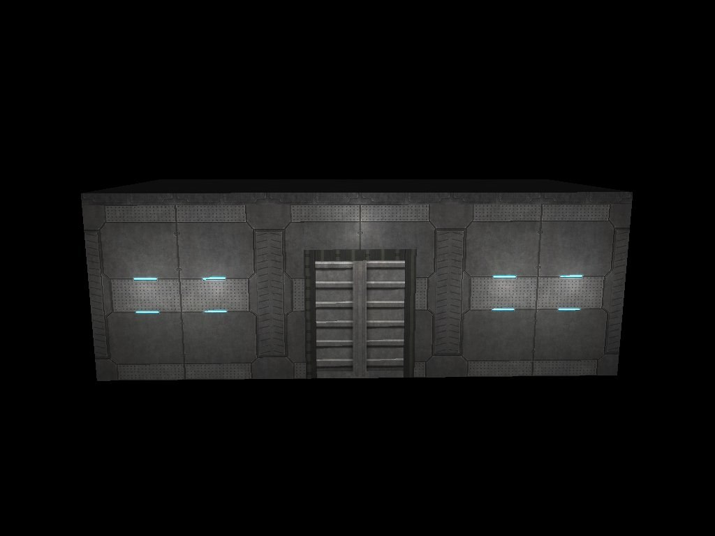 scifi warehouse 3d model