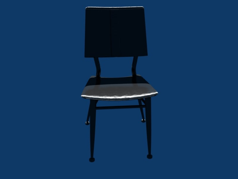 3d model steel template chair