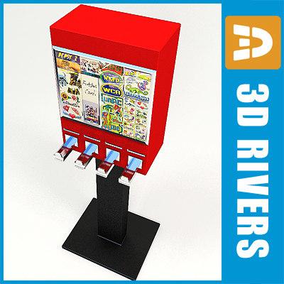 sticker vending machine 3d 3ds