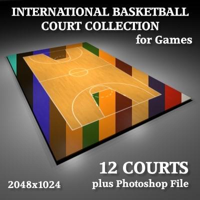 international basketball courts dxf