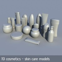 cosmetics skin care products obj