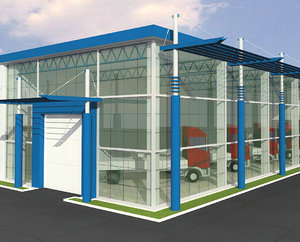 automobile showroom max