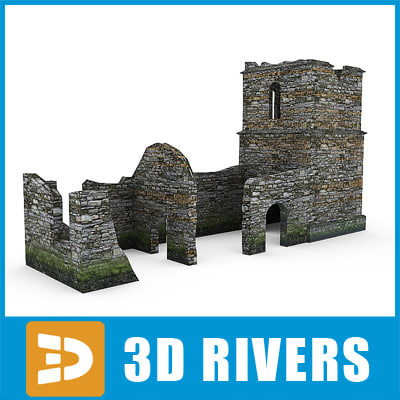 3d model remains town ruins