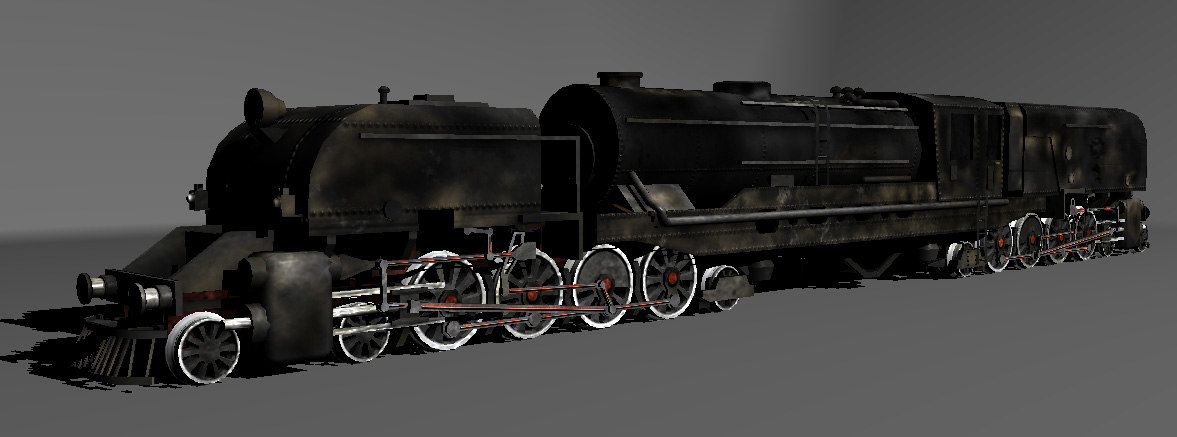 old train engine 3d model