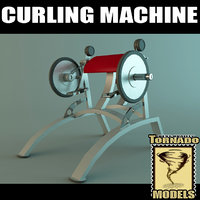 3ds max curling machine
