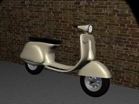 vespa scooter 3d max
