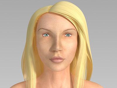 3d max irina female rigged