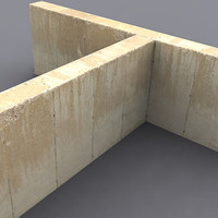 3d model industrial concrete wall