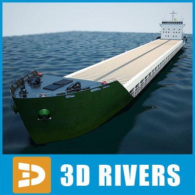 3d model container ship cargo