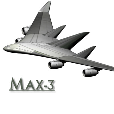 3ds max concept blended wing