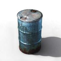 3d modell metallic barrel
